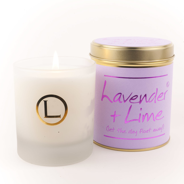 Lavender & Lime Glassware Candle