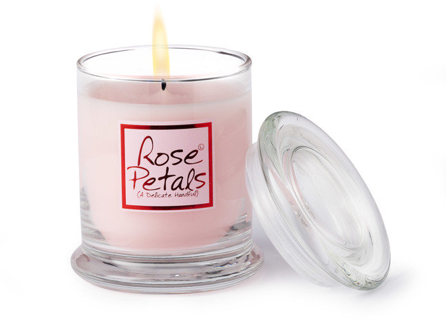 Rose Petals Candle Jar
