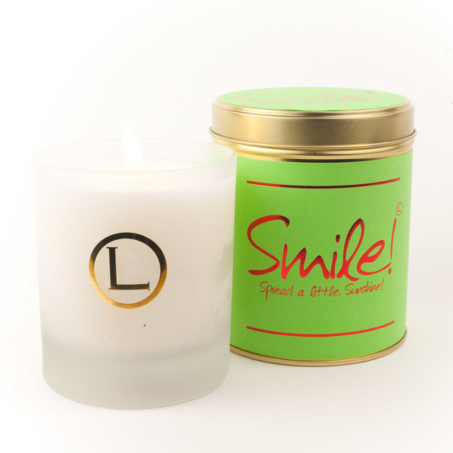 Smile! Glassware Candle