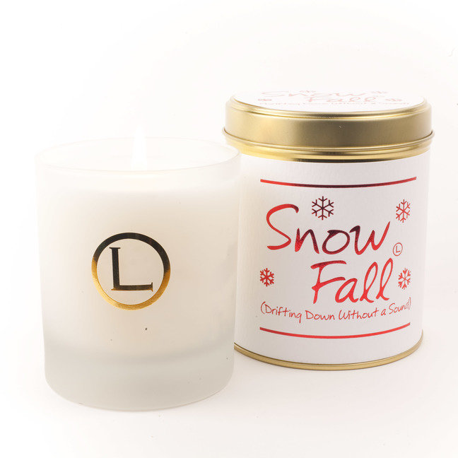 Snow Fall Glassware Candle
