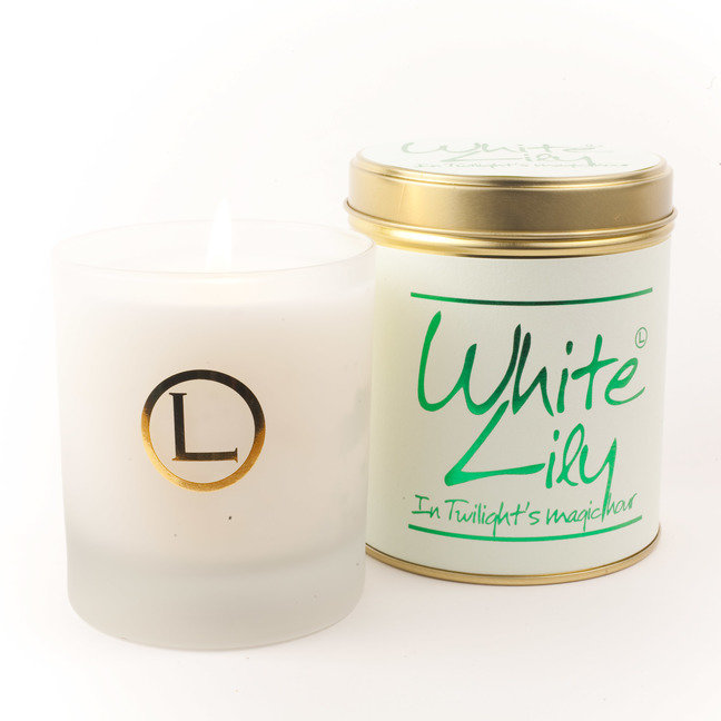 White Lily Glassware Candle