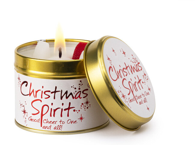 Christmas Spirit Scented Candle Tin