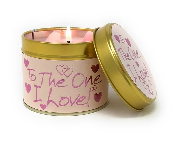 To The One I Love Scented Candle Tin