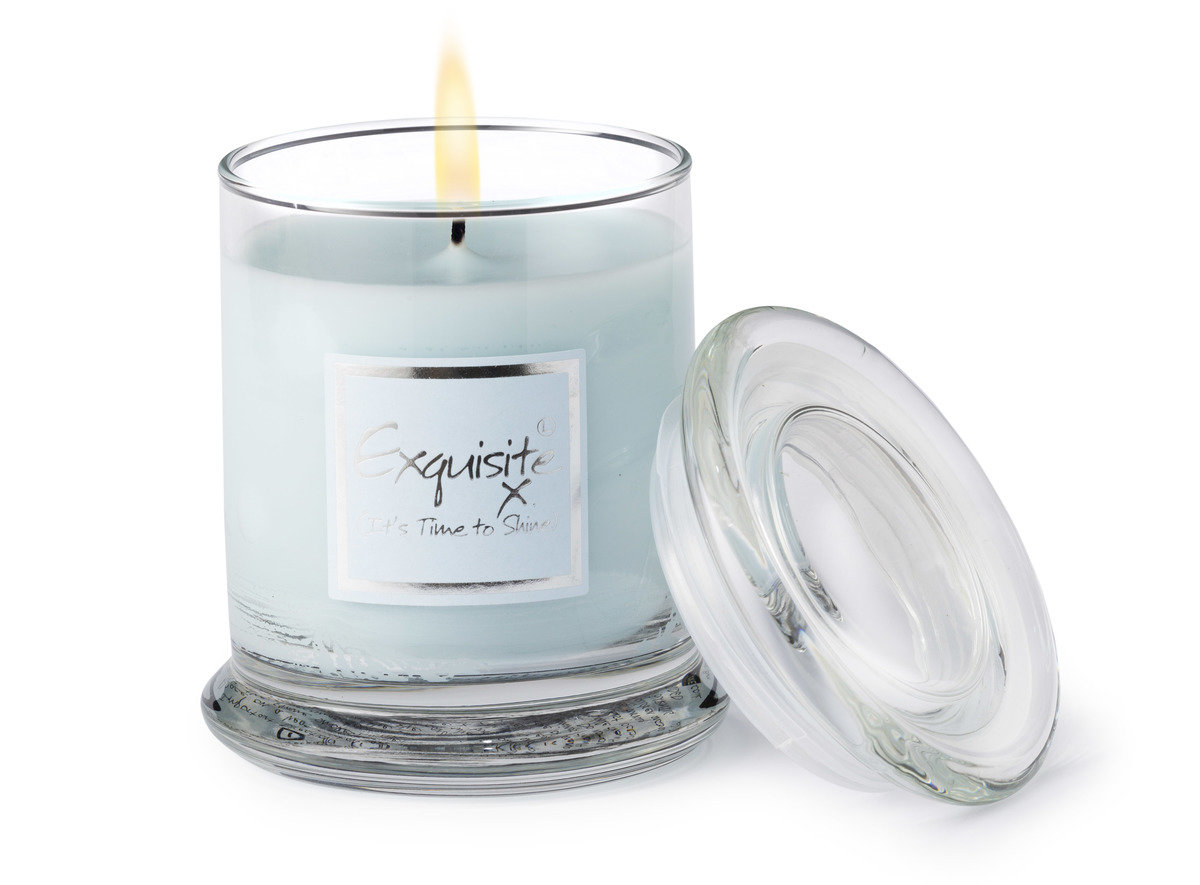 Exquisite Candle Jar Glass Jars Lily Flame